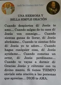 Prayer Verses, God Prayer, Prayer Quotes, Daily Prayer, Bible Verses, Son Quotes, Prayer Images, Spanish Prayers, Jesus Christ Quotes