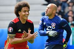 Belgium international Axel Witsel (left) has decided to reject a move to Juventus