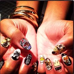 Basquiat Nails