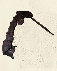 Segmented arm armour – three quarter length