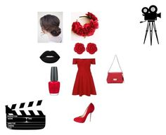 """""""Movie Date"""" by maddies-fashions ❤ liked on Polyvore featuring River Island, Dollydagger, Christian Louboutin, Lime Crime, OPI and Christian Dior"""