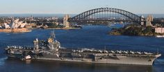 uss kitty hawk cv 63 sydney australia 2005