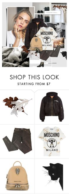 """Cara Delevingne"" by rainie-minnie ❤ liked on Polyvore featuring Oris, Chanel, Vetements, McQ by Alexander McQueen, Moschino, Philipp Plein and Giuseppe Zanotti"