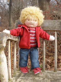 Waldorf Boy Doll 16 cloth doll by hazeldoll on Etsy