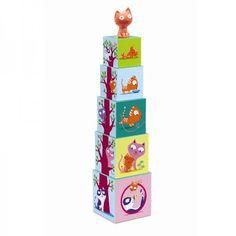 Djeco Catibloc Stapelspiel für Kleinkinder ab 12 Monaten - Bonuspunkte sammeln, Kauf auf Rechnung, DHL Blitzlieferung!