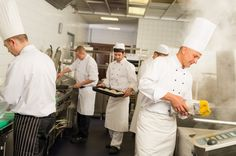 So how DO the chefs keep the kitchen running like a well-oiled machine? How does everyone know their jobs, down to the very last miniscule task? Ever wonder about the Brigade de Cuisine or Kitchen Brigade System? Here's the origin of the terms, sous-chef, commis, maître d, sommelier...