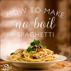 Did you know it's possible to cook spaghetti without boiling water? Check out this hack for an easy kitchen shortcut. http://thestir.cafemom.com/food_party/185427/how_to_make_the_fastest