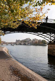 Pont des Arts, Seine, Paris   Flickr - Photo Sharing!