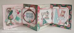 The Dining Room Drawers: Accordion Album Sewing Themed Card - Papertrey Ink & Tilda