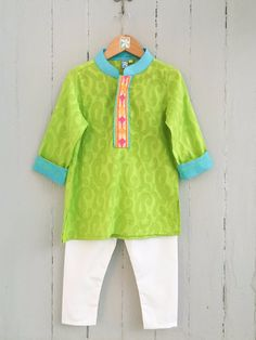 Kids Wear Online, Boys Kurta, Kids Wardrobe, Lime, Kids Shop, Children, Green, Stuff To Buy, Tops
