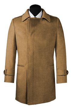 Beige double breasted Cashmere Coat