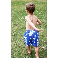 Super comfy and stylish swim pants for little boys!