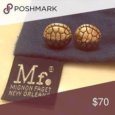 Mignon Faget Tortoise earrings Mignon Faget tortoise earrings. Storage bag included. Size 7 Mignon Faget Jewelry Earrings