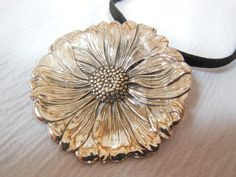 The Daisy  Antique Sterling Silver Spoon by WoodsEdgeJewelry