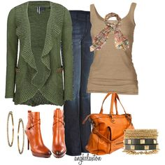 """""""Favorite Cardigan"""" - great color on the boots but WAY too high. Now... to find that sweater...."""