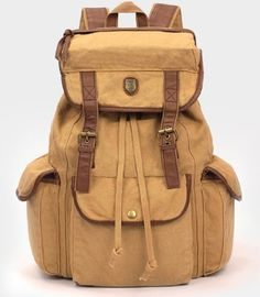 BUG Multi-function Canvas Backpack/ Practical Rucksack /Leisure Rucksack/ Unisex Backpack - 8 Colors'Brown' -- Quickly view this special outdoor item, click the image : backpack and accessories