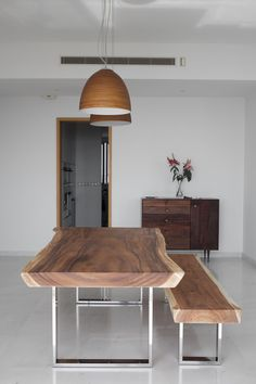 Meter Suar Table with Stainless Steel Legs x Herman Furniture Singapore Decor, Slab Dining Tables, Teak Wood Furniture, Dining Room Table, Furniture, Wood Slab Dining Table, Wood Table, Wood Table Legs, Wood Dining Table