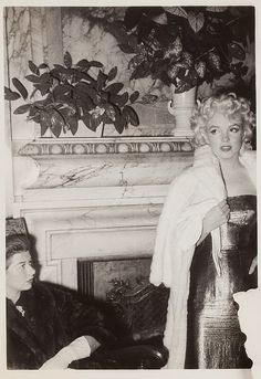 """Marilyn Monroe at the premiere of """"Cat On A Hot Tin Roof"""" held at the Ambassador Hotel, 1955."""