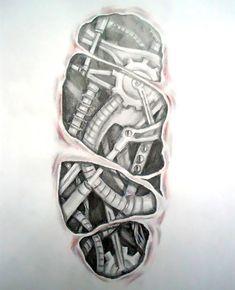 Tattoo Designs For Men Biomechanical Under Skin