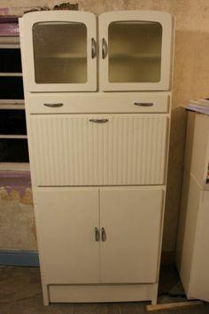 Merveilleux Original 1950s To 1960s Vintage Kitchen Pantry Larder Cupboard Unit