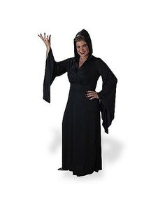 Hooded Robe Adult Womens Plus Size Costume - Spirithalloween.com