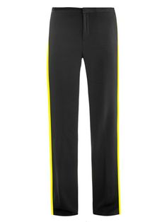 MSGM side stripe crepe trousers