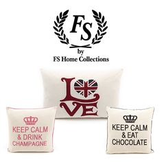 FS Home Collection Keep Calm And Drink, Brand Collection, Home Collections, Peace And Love, Branding Design, Touch, Interiors, Lifestyle, Luxury