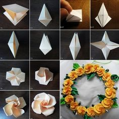 Origami Paper Twisty Rose Tutorial