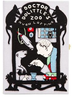 OLYMPIA LE-TAN Doctor Dolittle�S Zoo Embroidered Felt Clutch