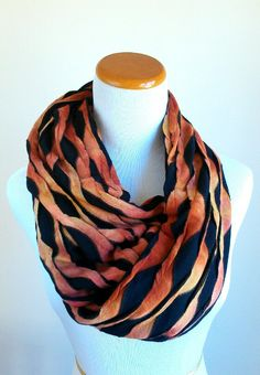 Ombre Brown Infinity Scarf, Accessories, women, scarves