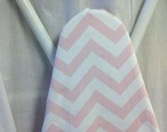 CHEVRON IRONING BOARD cover Baby Pink and white zigzag ironing Board cover