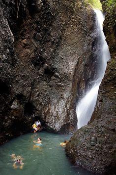 Jean Michel Cousteau Island Resort in Fiji-waterfall trip with Tutu Nu
