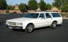 Moby Dick was a giant white whale, and the fact that this 1987 Caprice Station Wagon is long, and weighs in at would probably qualify it for that label. it is still a pretty decent car, and. Chevrolet Caprice, Chevrolet Impala, Chevrolet Camaro, Corvette, Best Barns, Best Classic Cars, Barn Finds, Station Wagon, Limo