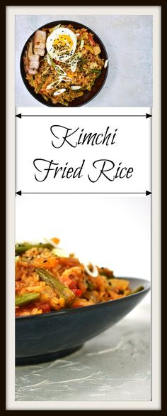 Kimchi Fried Rice is an easy, versatile, and flavorful dish that can be used as a side or combined with Korean Stir Fried Vegetables, to create a vegetarian entree. The pungent, slightly spicy kimchi adds a unique flavor and a crunchy texture to the takeout favorite. Sometimes the simplest dishes are the most delicious, and this is one of those times.