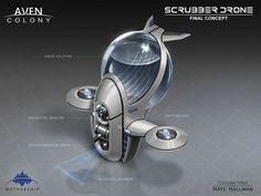Concept design for the Scrubber drones in the game, Aven Colony. Futuristic Art, Futuristic Technology, Drone Technology, Technology Gadgets, Subnautica Concept Art, Small Drones, Skin Care Routine For 20s, Cleaning Equipment, Drone Quadcopter