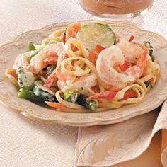 Pasta Primavera with Shrimp Recipe | Taste of Home Recipes