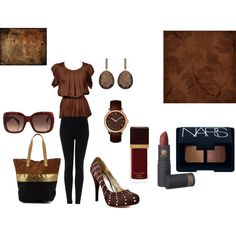 """Deep Brown and Black"" by martha-hill-carter on Polyvore"