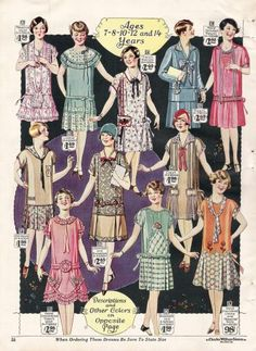 1920s children girls dresses, 1927