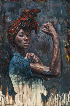 Striking Portraits Featuring Powerful Women of Color Painted by Artist Tim Okamura (Colossal) Dynamic Painting, Black Art Painting, Black Artwork, Drip Painting, Black Girl Art, Black Women Art, Art Women, Tim Okamura, Single Black Women