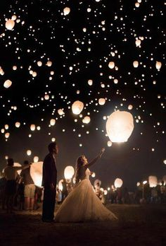 12 Magic Photos With Sky Lanterns For Your Wedding Album Magic Photos With Sky Lanterns For Your Wedding Album ❤︎ Wedding planning ideas & inspiration. Wedding dresses, decor, and lots more. Celestial Wedding, Magical Wedding, Forest Wedding, Dream Wedding, Tangled Wedding, My Perfect Wedding, French Wedding, Sky Lanterns Wedding, Chinese Lanterns Wedding