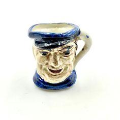 Toby Jug Miniature Character Mug Collectable skipper sailor Pots ornament VGC Sailor, Pots, Porcelain, Miniatures, Pottery, Ornaments, Tableware, Shop, Ebay