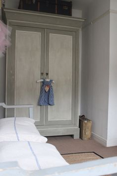 Shabby chic wardrobe in the nursery from France