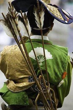 """ Japanese mounting archery, Yabusame. """