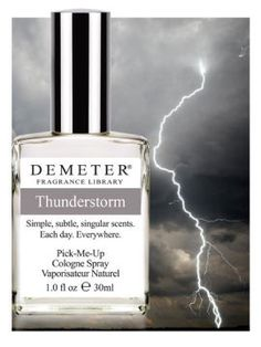 Fragrance of the Day for June 19, 2013 is Thunderstorm. Thunderstorm received the most votes in our recent Fragrance of the Day Facebook poll (www.Facebook.com/DemeterFragranceLibrary)   Receive any size Thunderstorm 50% off today only with code 3655169.