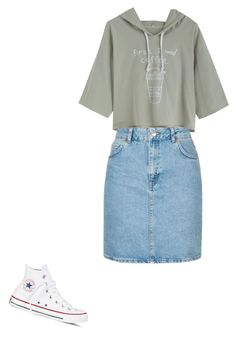 """""""Casual outfit #PentecostalOutfitIdeas"""" by kristin-weatherly on Polyvore featuring Topshop and Converse"""