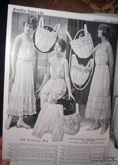 1917 World War I Edwardian Franklin Simon and Co., Fifth Ave., New York Fashion Catalog - Silk Underwear Shop - For Women and Misses