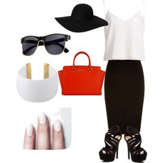 classic by maikehofman on Polyvore featuring polyvore fashion style Red Circle Gogo Philip Monki