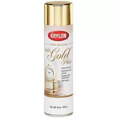 Metallic Spray Paint 8 Ounces, 18 Karat Gold