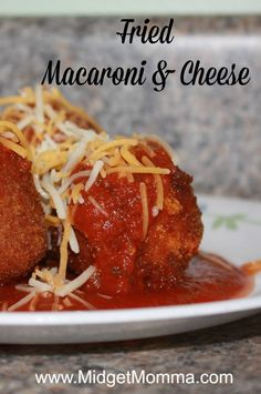 Copy Cat Cheesecake Factory Fried Macaroni and Cheese are like combining all of your favorite Italian things together in one big yummy ball.