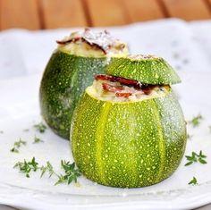Curgetes Bola Recheadas com Risotto de Legumes :) Delicioso
